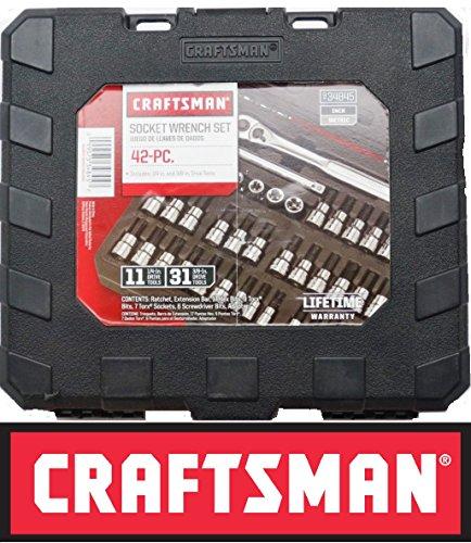 Craftsman 42 Piece Socket Wrench Bit Kit Set Empty Case 34845