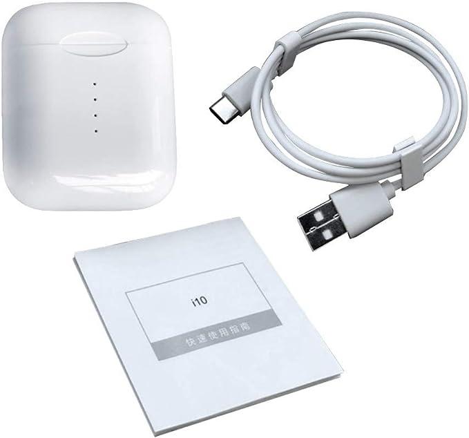 Auriculares Bluetooth i10 XS TWS Inalámbricos con Dock de carga