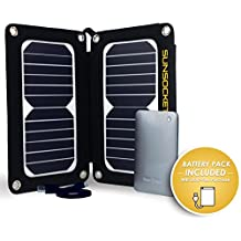Duo-Flex Portable Solar Panel with Removable 8000mah Battery Pack