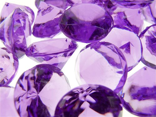 Acrylic Crystal Diamond Confetti Table Scatter 3/4 1 lb. Bag Purple