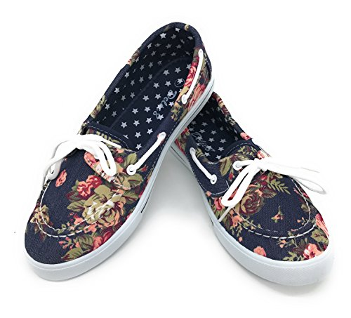 Blue Berry EASY21 Canvas Lace Up Flat Slip On Boat for sale  Delivered anywhere in USA