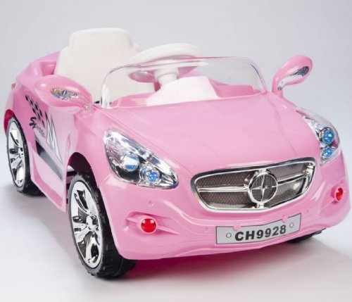 amazoncom kids amg style girls pink ride on rc car remote control electric powered wheels mp3 toys games