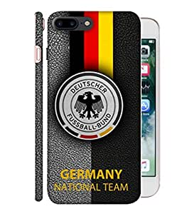 ColorKing Football Germany 17 Black shell case cover for Apple iphone 7 Plus