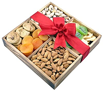 Gift Universe Dried fruits and Nuts Wooden Gift Tray