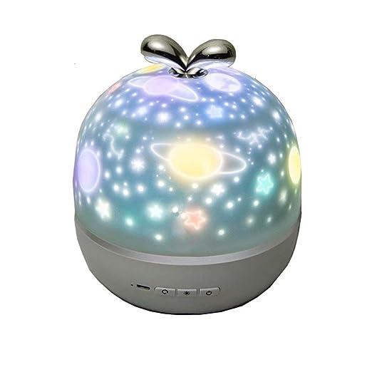 Proyector recargable Star Night Light - Luz de noche LED giratoria ...