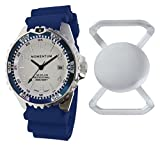 Momentum New St. Moritz M1 Splash Dive Watch with Blue Bezel, Blue Hyper Rubber Band & Free Watch Protector (Valued at $12.95) for Added Protection to The Glass Face of Your Dive Watch