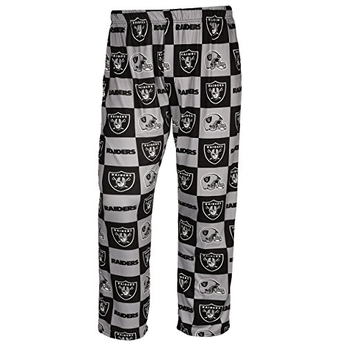 NFL Mens Repeat Print Lounge Pants,Oakland Raiders from Forever Collectibles