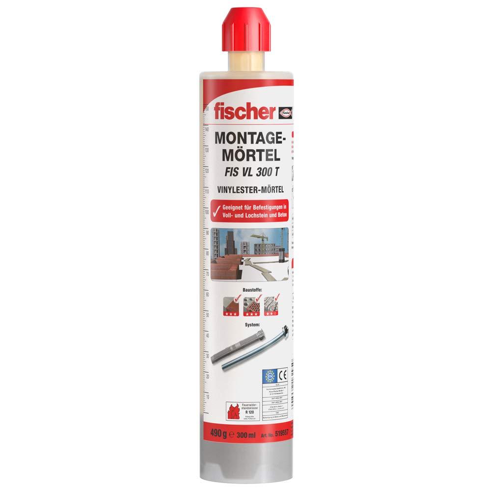 519557 Fischer FIS f/ácil de montar juntas 300/T 1/cartucho 300/ml 1/x mezclador
