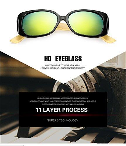 Personalidad De De del La Ultravioleta De Protección Los Aviador Madera Mujer E del 400 Hombres A para para Sol Gafas Marco YwqPfq