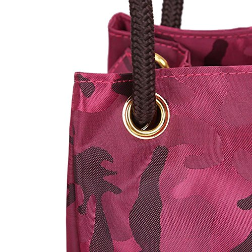 Capacity Shopping Casual Red Women Camouflage Shoulder Everpert Tote Bags Handbags Large 7aFpUcRq