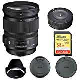 Sigma 24-105mm F/4 DG OS HSM Lens for Canon (635-101) with Sigma USB Dock for Canon Lens & Sandisk 32GB Extreme SD Memory Card