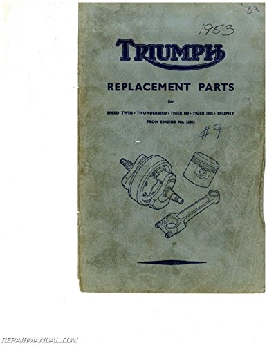 1953Triumphparts 1953 Triumph Motorcycles Replacement Parts Manual