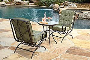 Cora 3 Piece Bistro Set Green