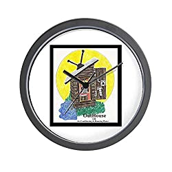 CafePress Outhouse/Air/Running Water Wall Clock - Standard Multi-color