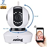 Security Camera Home Wifi Wireless IP Camera 720P HD Pan Tilt (Day/Night Vision,2 Way Audio,SD ...