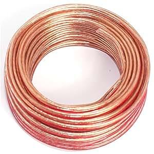 Cable para altavoz (2x 0,5mm²–Transparente–10M–CCA–Cable de audio–Caja de cable