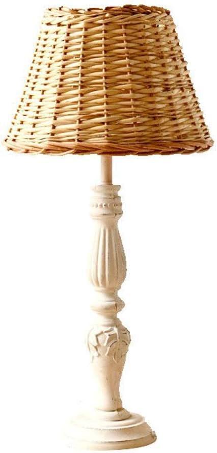 lampara mesas de noche de rattan
