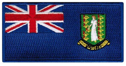 British Virgin Islands Flag Embroidered Patch Iron-On Caribbean National Emblem (Virgin Island Flag Patch)