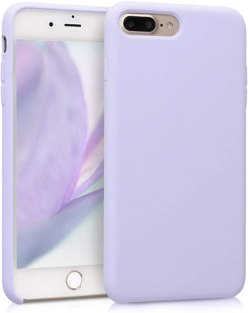 kwmobile TPU Silicone Case Compatible with Apple iPhone 7 Plus / 8 Plus - Soft Flexible Rubber Protective Cover - Light Lavender