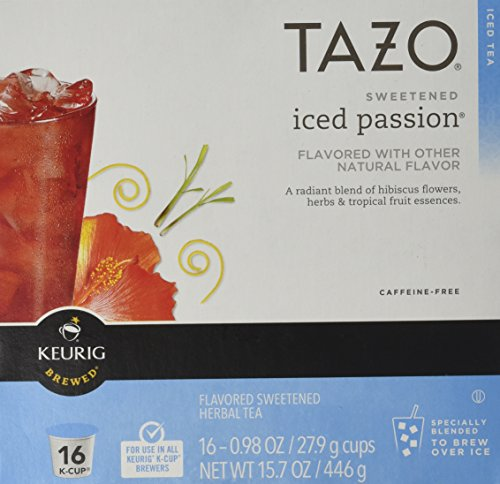 Keurig Tazo Sweetened Iced Passion Tea K-cup 16 Ct -