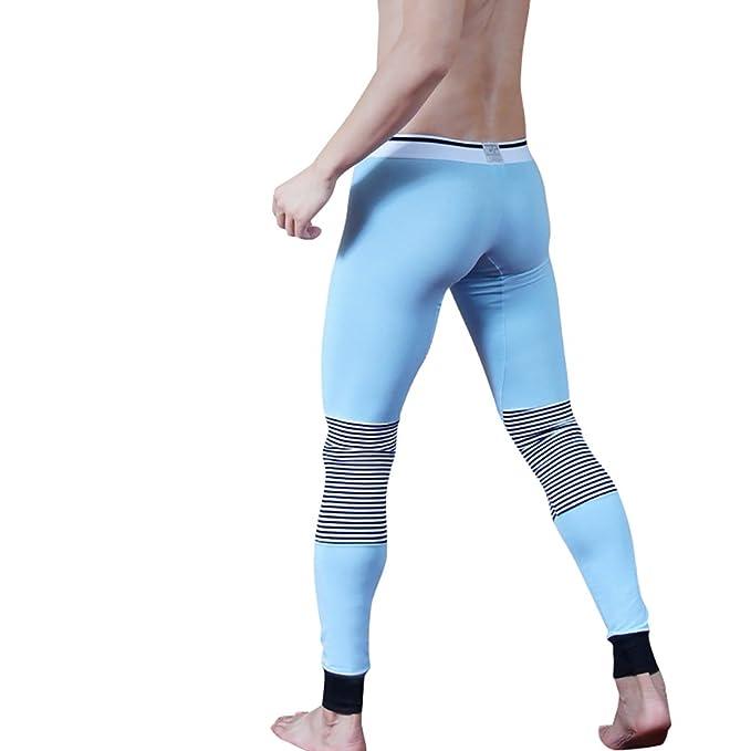 NiSeng Ropa Interior Termica Deporte Compresion Underwear Pantalones Interiores Termicos para hombre Azul Etiqueta L