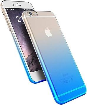 Shot Case - Coque Silicone Degrade IPHONE 6/6S Bi-Color Souple Gel Protection Apple (Couleur Bleu)