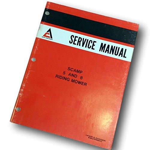 Allis Chalmers Scamp 5 & 8 Riding Mower Lawn Yard Service Repair Shop Manual