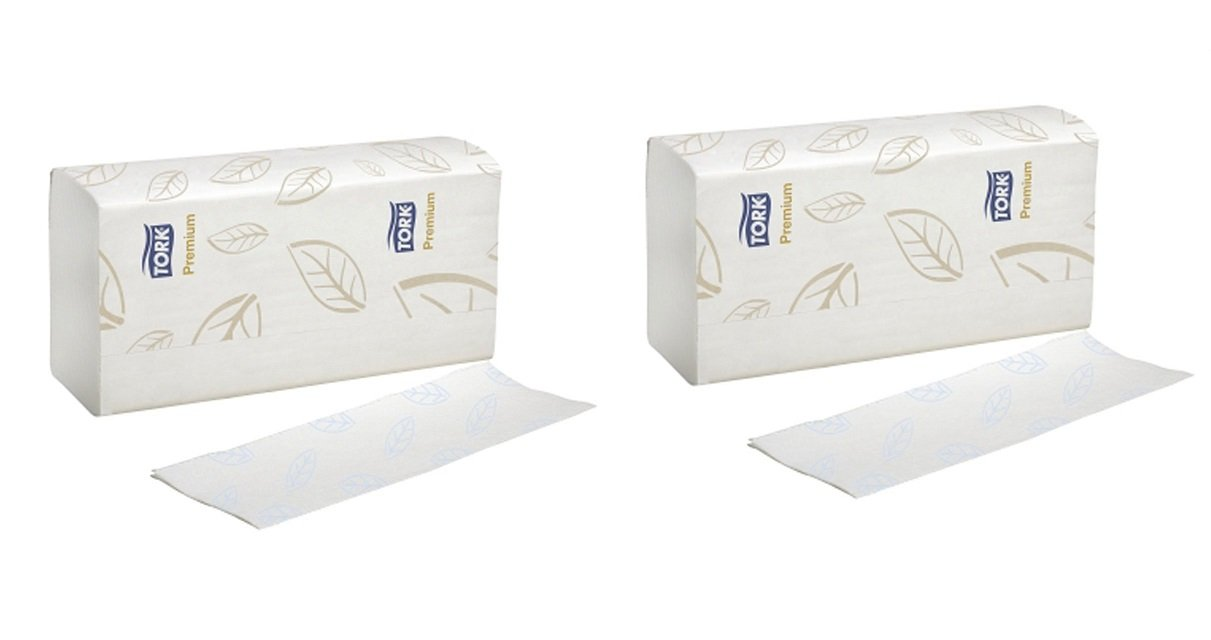 Tork MB578 Xpress Premium Soft Multifold 3-Panel 2-Ply Hand Towel, White (2-(16 Packs))