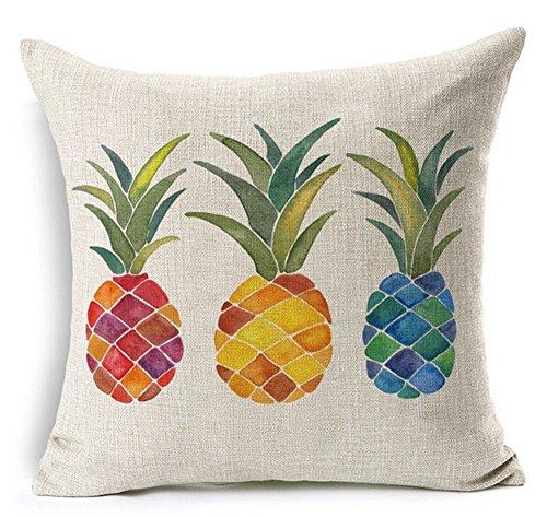 Watercolor Fresh Fruit Pineapple Fruit Pineapple Cotton Line