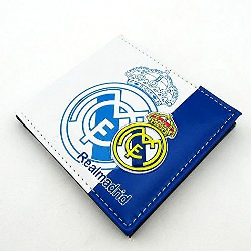 Real Madrid Football Soccer Club 3D Faux Leather PVC PU Wallet Purse Billfold 5 Card Slots