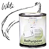 Majic Paints Diamond Hard Repurpose Enamel Paint for Interior or Exterior, 1-Quart, White