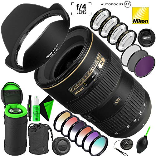 Nikon AF-S NIKKOR 16-35mm f/4G ED VR Lens with Creative Filter Kit and Pro Cleaning Accessories