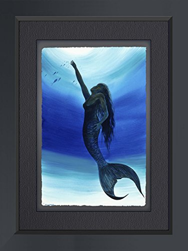 Wyland Limited Edition Fine Art Giclee on Paper 'Mermaid' Hand Signed By the Artist With A Custom Frame