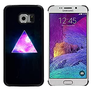 Design for Girls Plastic Cover Case FOR Samsung Galaxy S6 EDGE Pyramid Space Cosmos Galaxy Universe Triangle OBBA