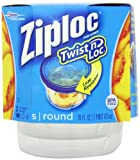 ziplock 2 cup - Ziploc Twist N Loc Containers, Small 3 Containers and 3 Lids (Pack of 2)