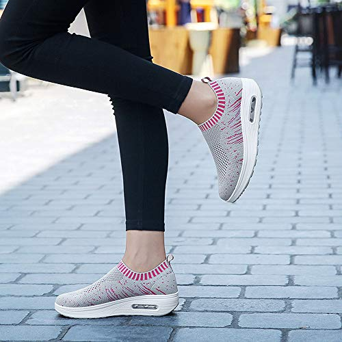 Shoes Thick Shoes FarJing Air Outdoor Mesh Sports Clearance Soled Women Cushion Sale Sneakers Casual Gray Sneakers qzO8U