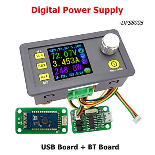 (difcuyg5Ozw USB BT Constant Voltage LCD Color Screen Current Step-down Power Supply Module 0-80.00V/0-5.00A Programmable)