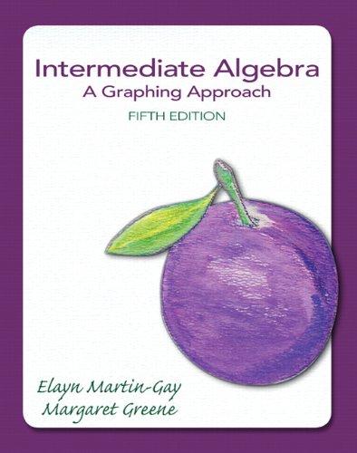 Intermediate Algebra: A Graphing Approach (5th Edition) (The Martin-Gay Developmental Algebra Series (hardbacks))