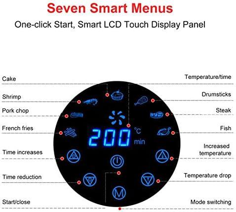 ZRN 2.6 L 1300W Friteuse À Air À La Maison, Écran Tactile Intelligent sans Fumée D'huile, Friteuse À Air Électrique De Grande Capacité De Machine De Frites pour La Cuisine