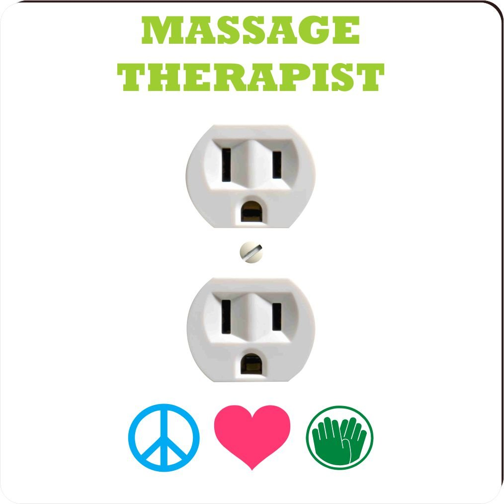 Rikki Knight 41485 Outlet Peace Love Massage Therapist Design Outlet Plate