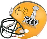 Green Bay Packers Aaron Rodgers Super Bowl XLV Champions Autographed Replica Helmet - Fanatics Authentic Certified