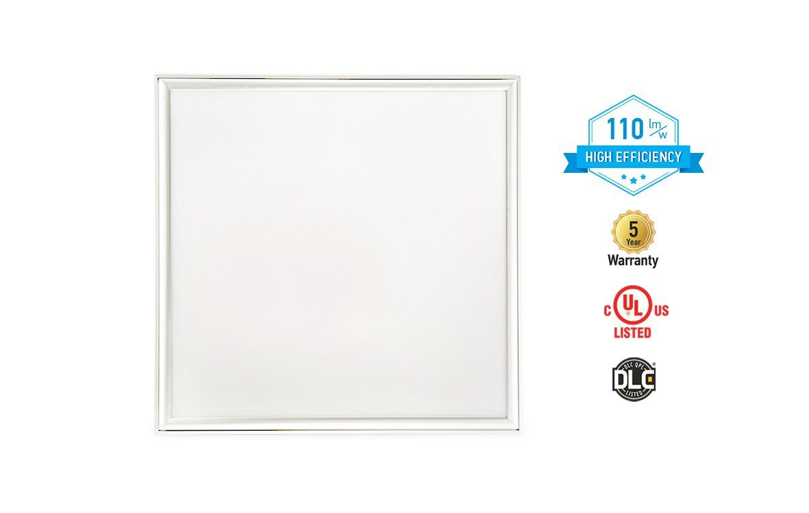 4-PACK ASD LED Panel 2x2 Dimmable Edge-Lit Flat 27W 5000K High Efficiency Series