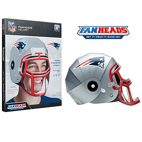 FanHeads New England Patriots 95914-PDQ Wearable NFL Replica Helmets - Pick Your Team! ()