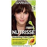 Garnier Nutrisse Nourishing Hair Color Creme, 40 Dark Brown (Dark Chocolate)  (Packaging May Vary)