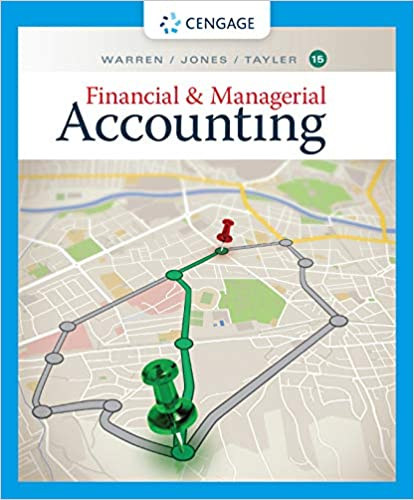 Financial & Managerial Accounting by Warren/Jones/Tayler