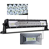 22Inch 120W Tri-Row LED Light Bar,WEISIJI® Spot Flood Combo Beam IP68 Driving Work Lights Super Bright for SUV UTV ATV Truck Boat 4x4 Offroad
