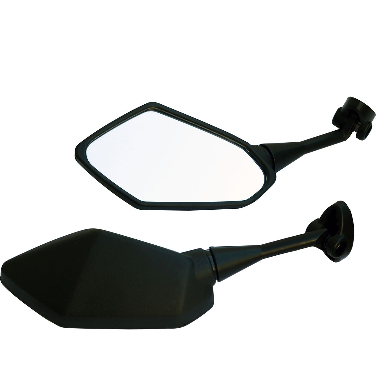 Black Motorcycle Rear View Mirrors For Sport Bike 2009 Yamaha FZ6R