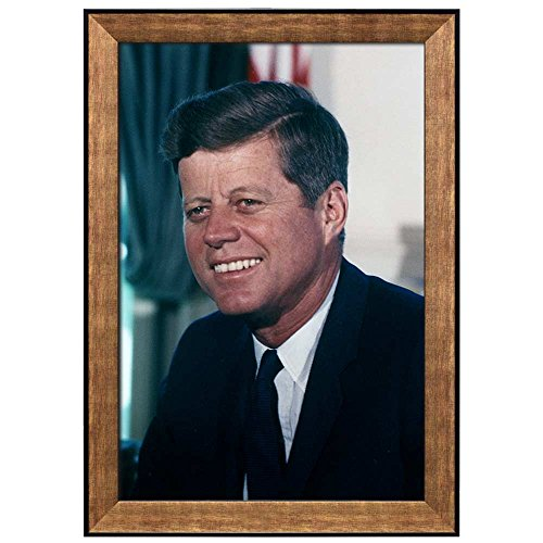 Portrait of John F Kennedy (35th President of the United States) American Presidents Series Framed Art Print
