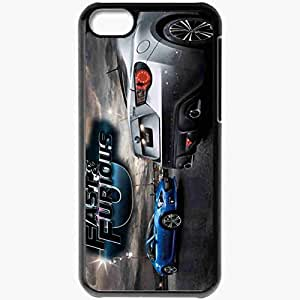 Personalized iPhone 5C Cell phone Case/Cover Skin Fast And Furious 6 Wallpaper 3112 Movie Black