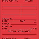PDC Healthcare 59704610 Label Paper, Permanent, Medication Added, 2'' x 3'', Red (Pack of 500)